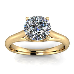 Solitaire Moissanite Engagement Ring Forever One - Giselle - Moissanite Rings