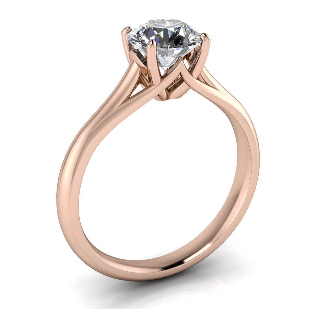 Engagement Rings With Moissanite: Best Solitaire Moissanite Engagement Ring Forever One
