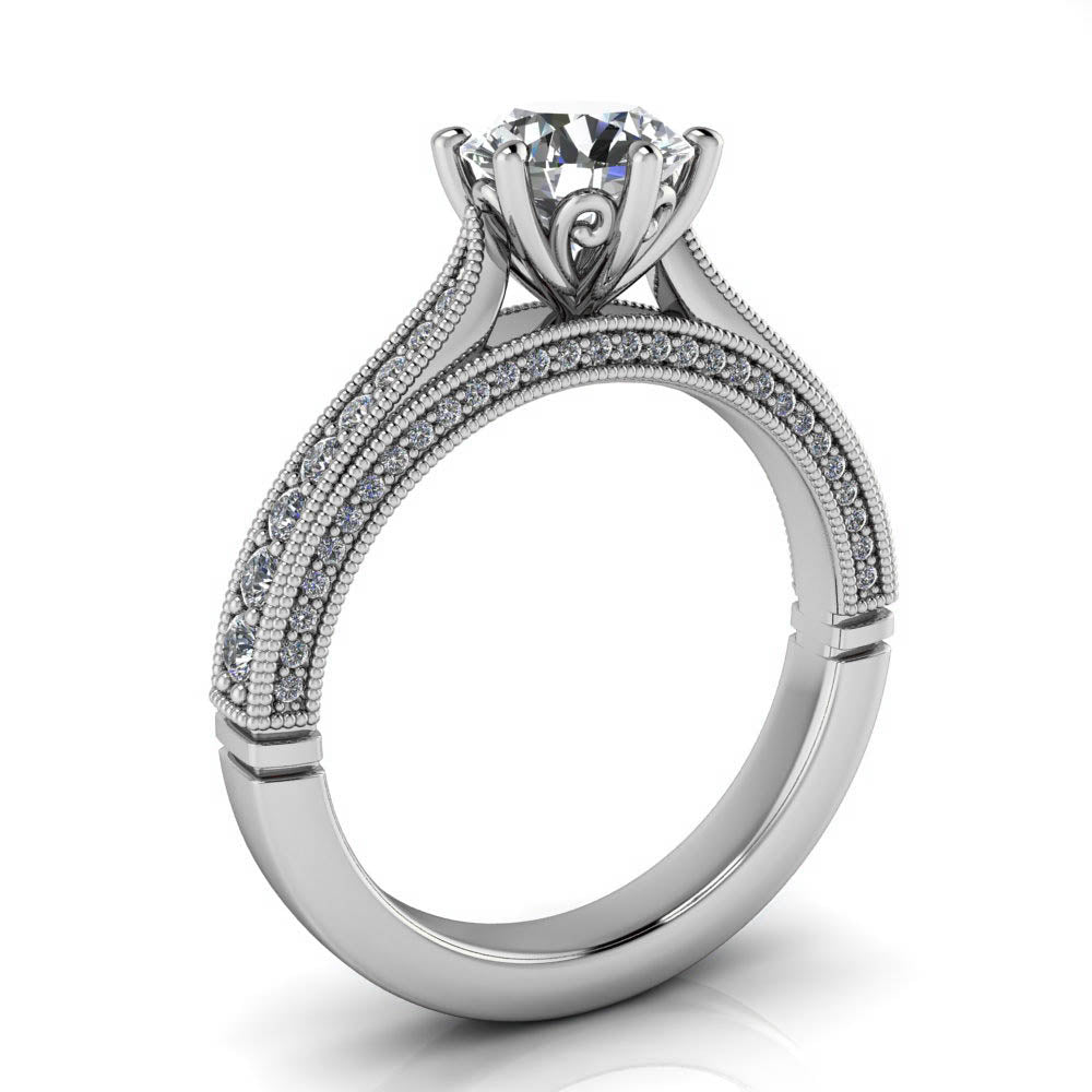 rings a engagement inc products e double solitaire prong cathedral j twist ring