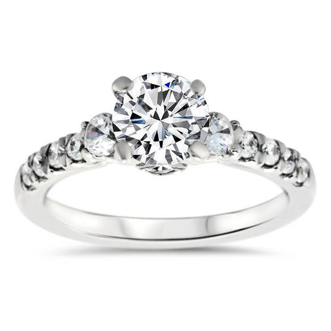 Diamond Accented Engagement Ring - Carmella