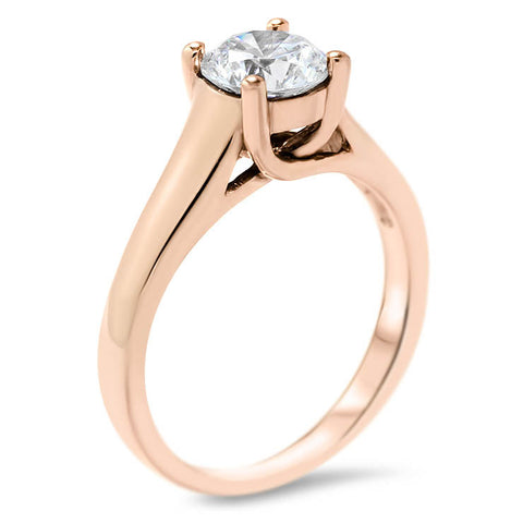 Forever One Solitaire Moissanite Engagement Ring - KJ - Moissanite Rings