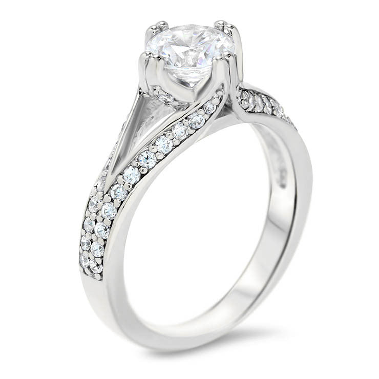 Split Shank Diamond Engagement Ring - Dorit