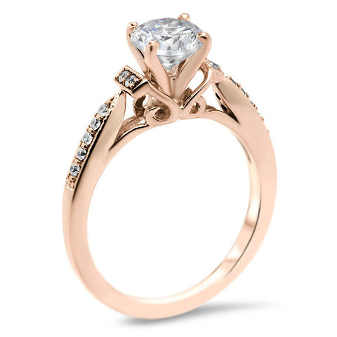 Antique Inspired Moissanite Ring - Sarabelle - Moissanite Rings