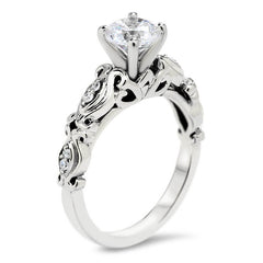 Vintage Inspired Engagement Ring - Celine - Moissanite Rings