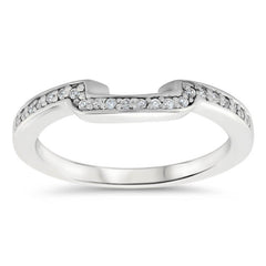 Diamond Accented Engagement Ring with Matching Wedding Band - Shawl Set - Moissanite Rings