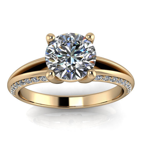 Split Shank Engagement Ring Moissanite Ring - Tyson