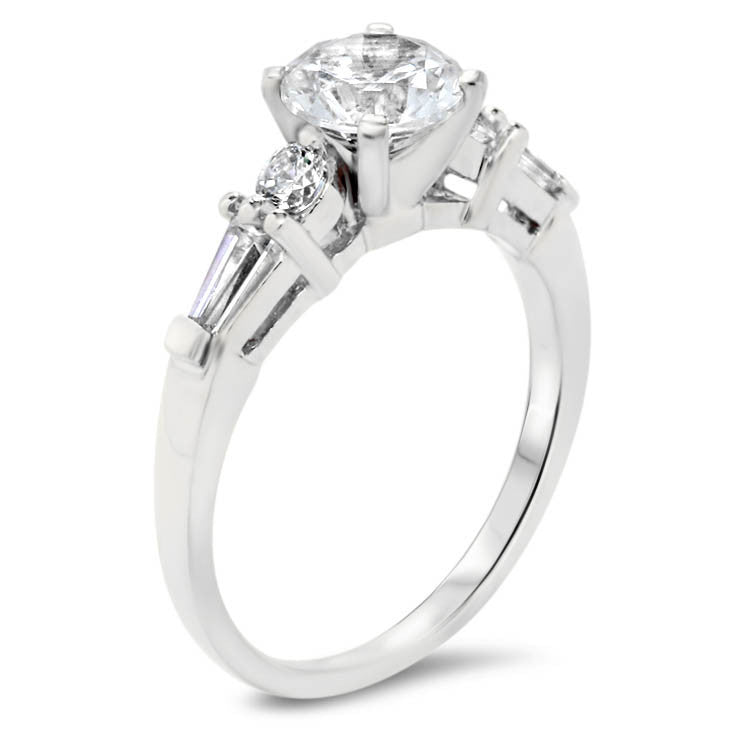 Moissanite Center Engagement Ring Diamond Setting -  Yvette - Moissanite Rings