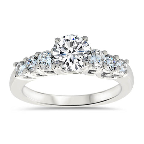 Forever One Moissanite and Diamond Engagement Ring Setting - Michela - Moissanite Rings
