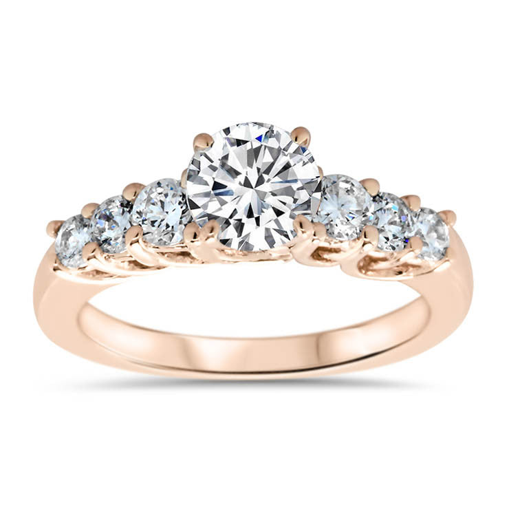 Diamond Engagement Ring and Wedding Band - Michela - Moissanite Rings