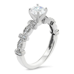 Vintage Inpired Diamond Engagement Ring Setting - Vix - Moissanite Rings