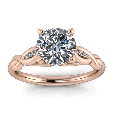 Floral Inspired Engagement Ring Moissanite Center - Wild II - Moissanite Rings
