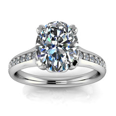 2 carat Oval Moissanite Engagement Ring - Luther - Moissanite Rings