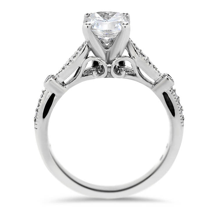 Vintage Inspired Engagement Ring - Meg - Moissanite Rings