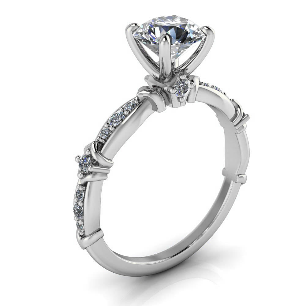 Engagement Rings With Moissanite: Unique Moissanite And Diamond Engagement Ring