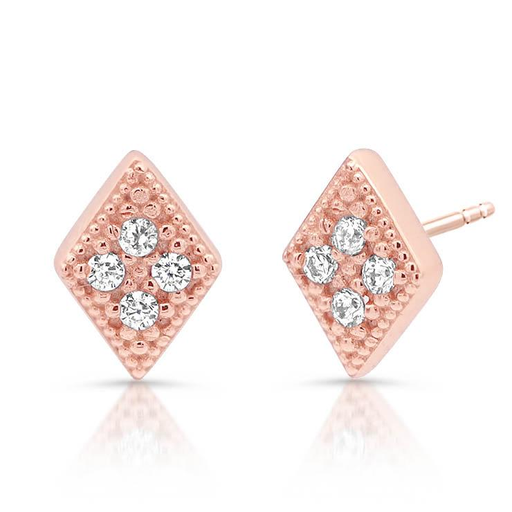 Diamond Pave Diamond Stud