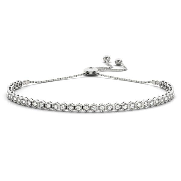 Hexagon Bezel Diamond Bracelet