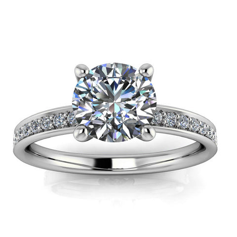 Moissanite Engagement Ring Forever One - Natalie I - Moissanite Rings
