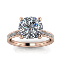 Moissanite Engagement Ring 8mm Forever One - Natalie II - Moissanite Rings