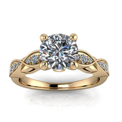 Infinity Band Engagement Ring - Hunter - Moissanite Rings