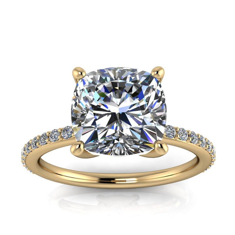 Cushion Cut Engagement Ring - Hannah - Moissanite Rings