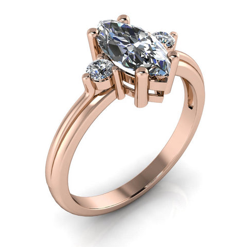 Three Stone Marquise Engagement Ring - Fisk
