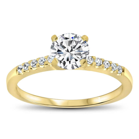 Moissanite  Engagement Ring Diamond Setting - Tink - Moissanite Rings