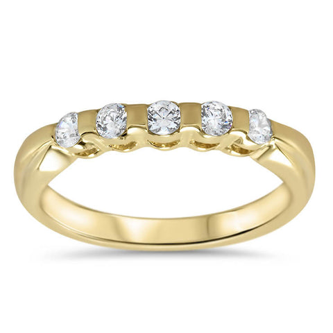 Bar Set Diamond Wedding Band - Evie Band - Moissanite Rings