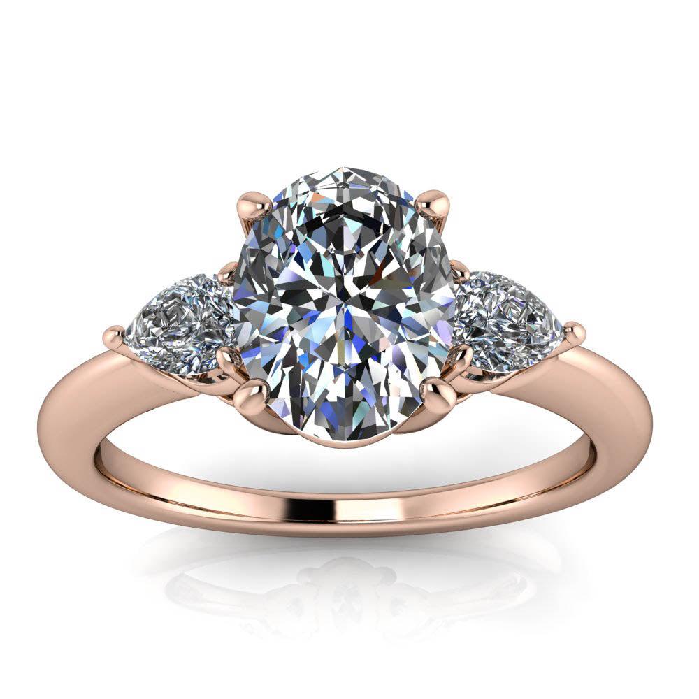 Oval and Pear Engagement Ring - Dexter