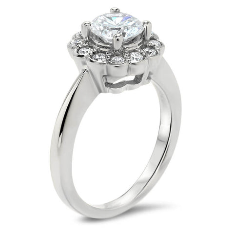 Floral Style Diamond Halo Wedding Set - Iris Set - Moissanite Rings