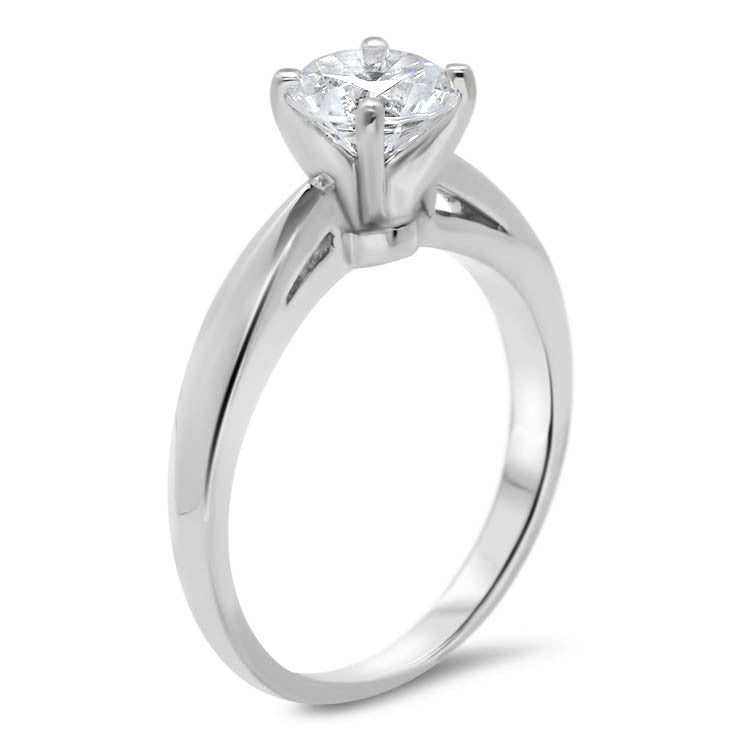 Cut Out Solitaire Moissanite Engagement Ring - Kyle - Moissanite Rings
