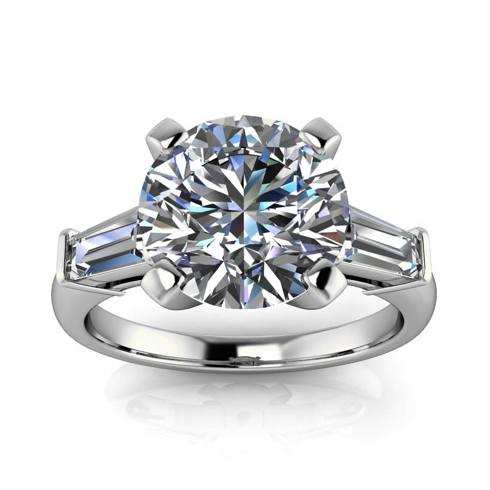 platinum henrich solitaire denzel diamond ring products designyard engagement baguette rings