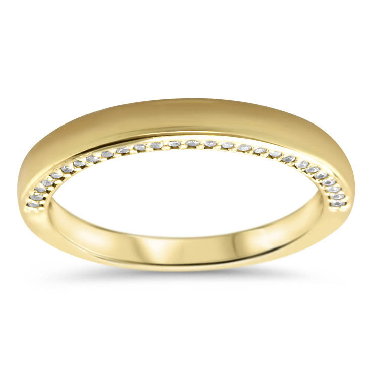 Gold and Diamond Wedding Band - Lucy  Band - Moissanite Rings