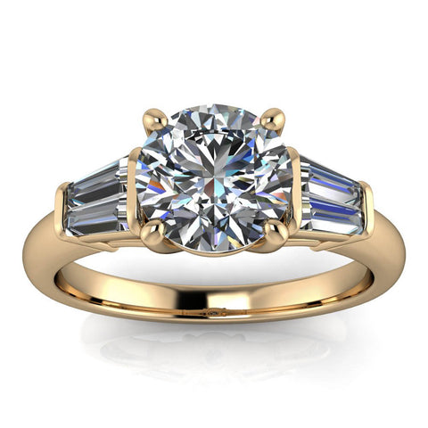 Tapered Baguette Engagement Ring - Bronson