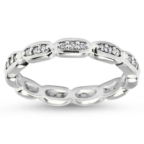 Diamond Eternity Wedding - Sly - Moissanite Rings