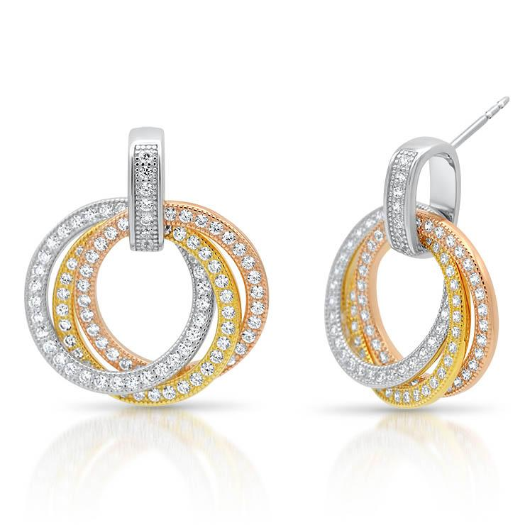 Diamond Trio Earrings