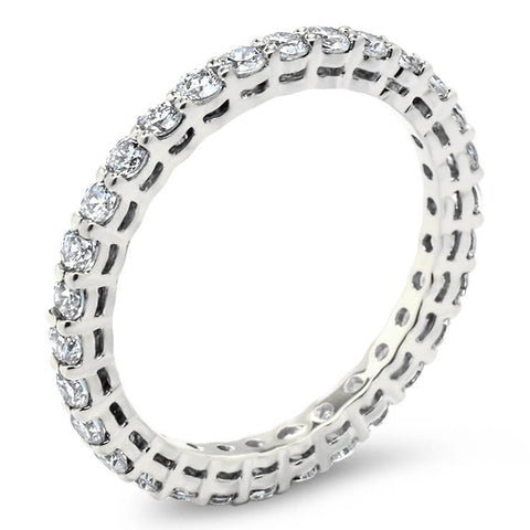 Shared Prong Diamond Eternity Wedding Band - Circo - Moissanite Rings