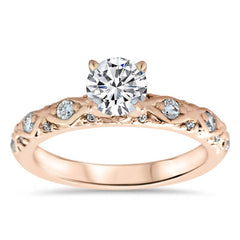 Vintage Inspired Diamond Engagement Ring Setting - Ziggy
