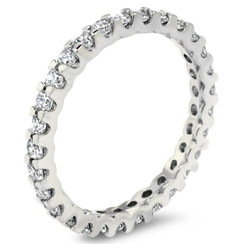 Diamond Eternity Wedding Band -  Dawn - Moissanite Rings