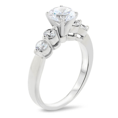 Single Prong Moissanite Diamond Engagement Ring - Sheila - Moissanite Rings