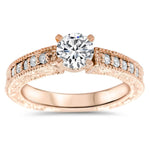 Vintage Style Diamond Enagement Ring - Founded - Moissanite Rings