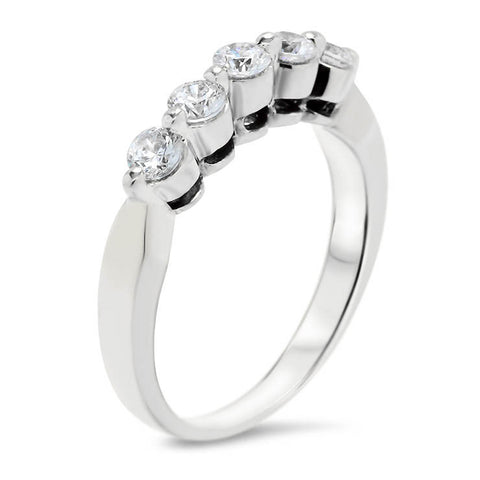 Five Stone Diamond Wedding Band - Sheila Band - Moissanite Rings