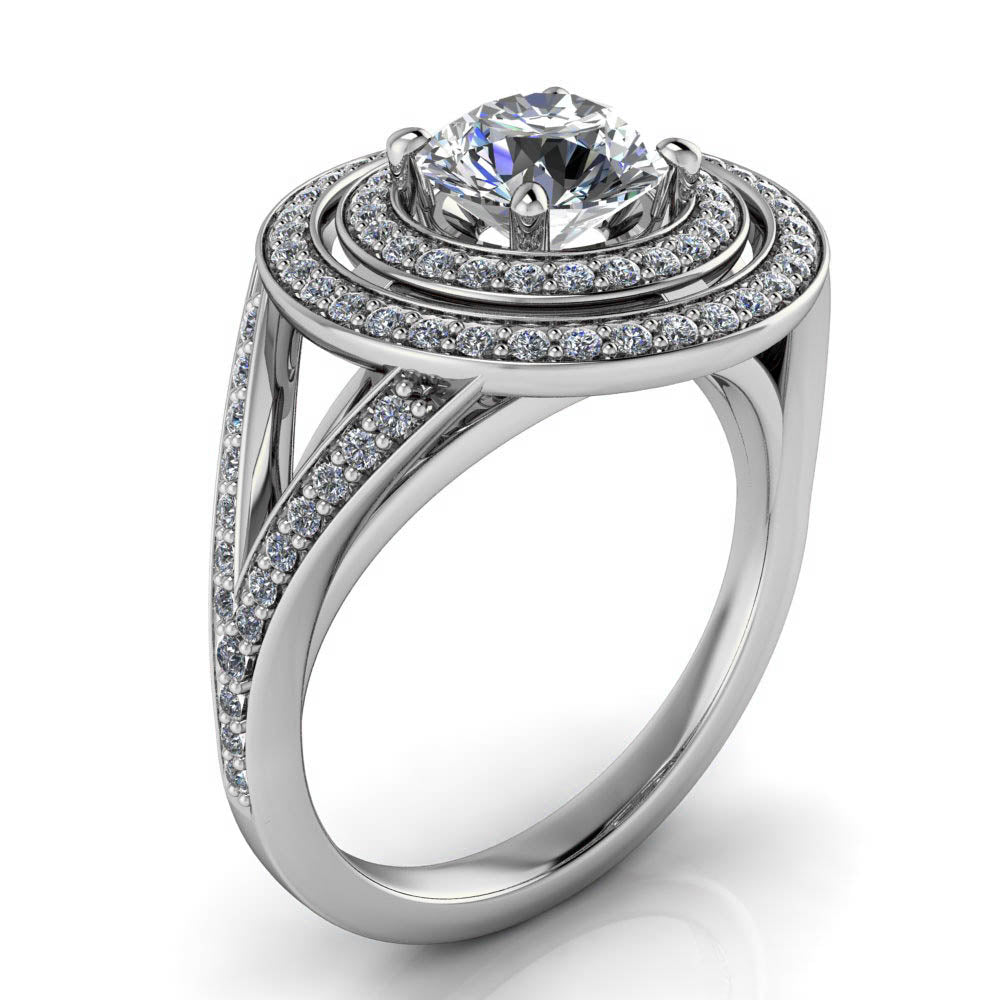 with halo wholesale texas rings engagement dallas in diamond split cut ring princess shira shank diamonds