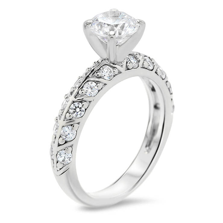 Unique Diamond Engagement Ring Setting - Branch - Moissanite Rings