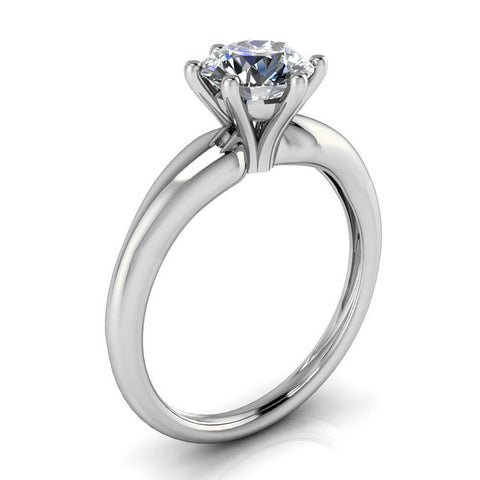Six Prong Solitaire Moissanite Engagement Ring - Bernice - Moissanite Rings