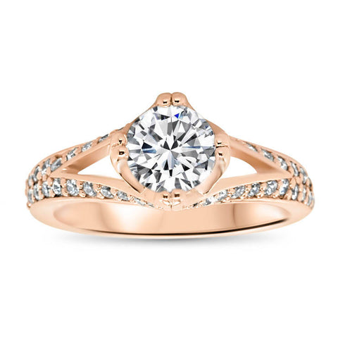 Split Shank Diamond Engagement Ring - Dorit - Moissanite Rings