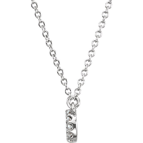 Petite Diamond Infinity Necklace - Moissanite Rings