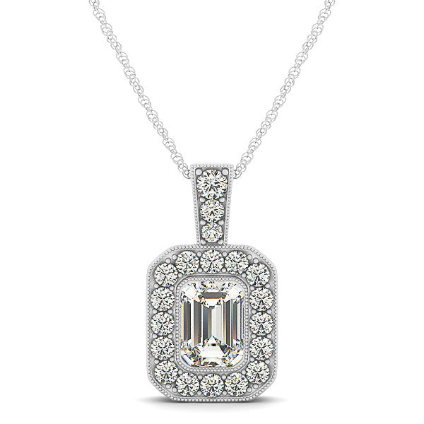 one amazon dew gold forever pendant dp com charles moissanite colvard white by round necklace