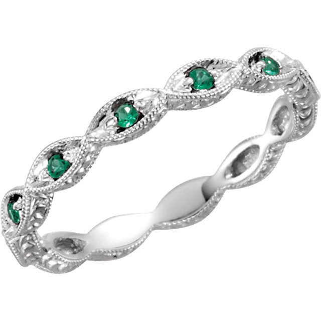 platinum cut diamond band eternity emerald gem bands