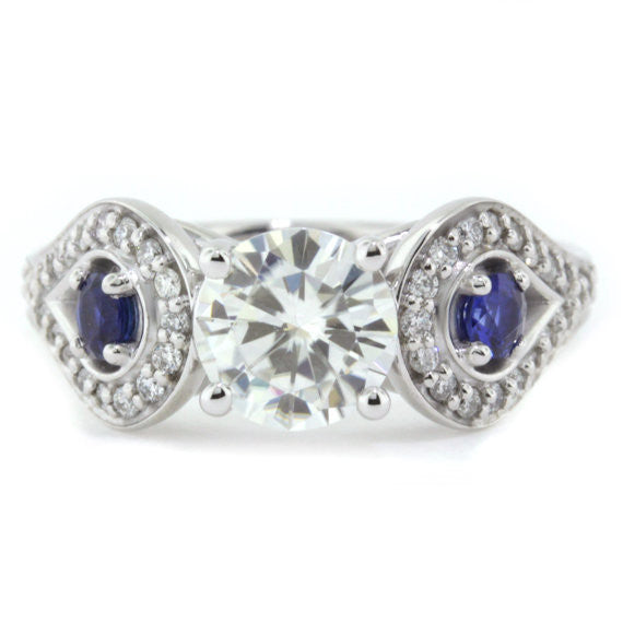 diamond coast accents engagement worthington ring jewelers rings cut accent jewelry blue princess