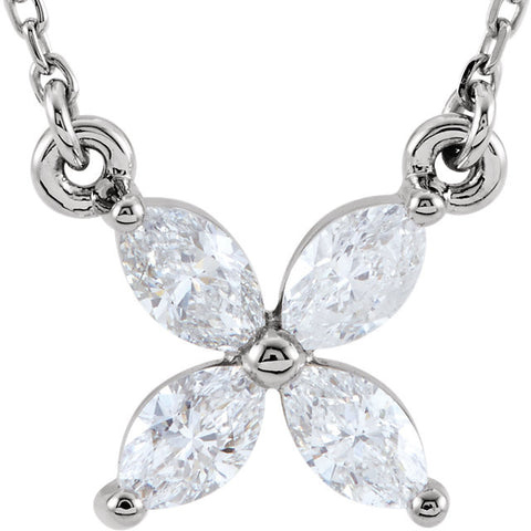 Floral Diamond Pendant - Moissanite Rings